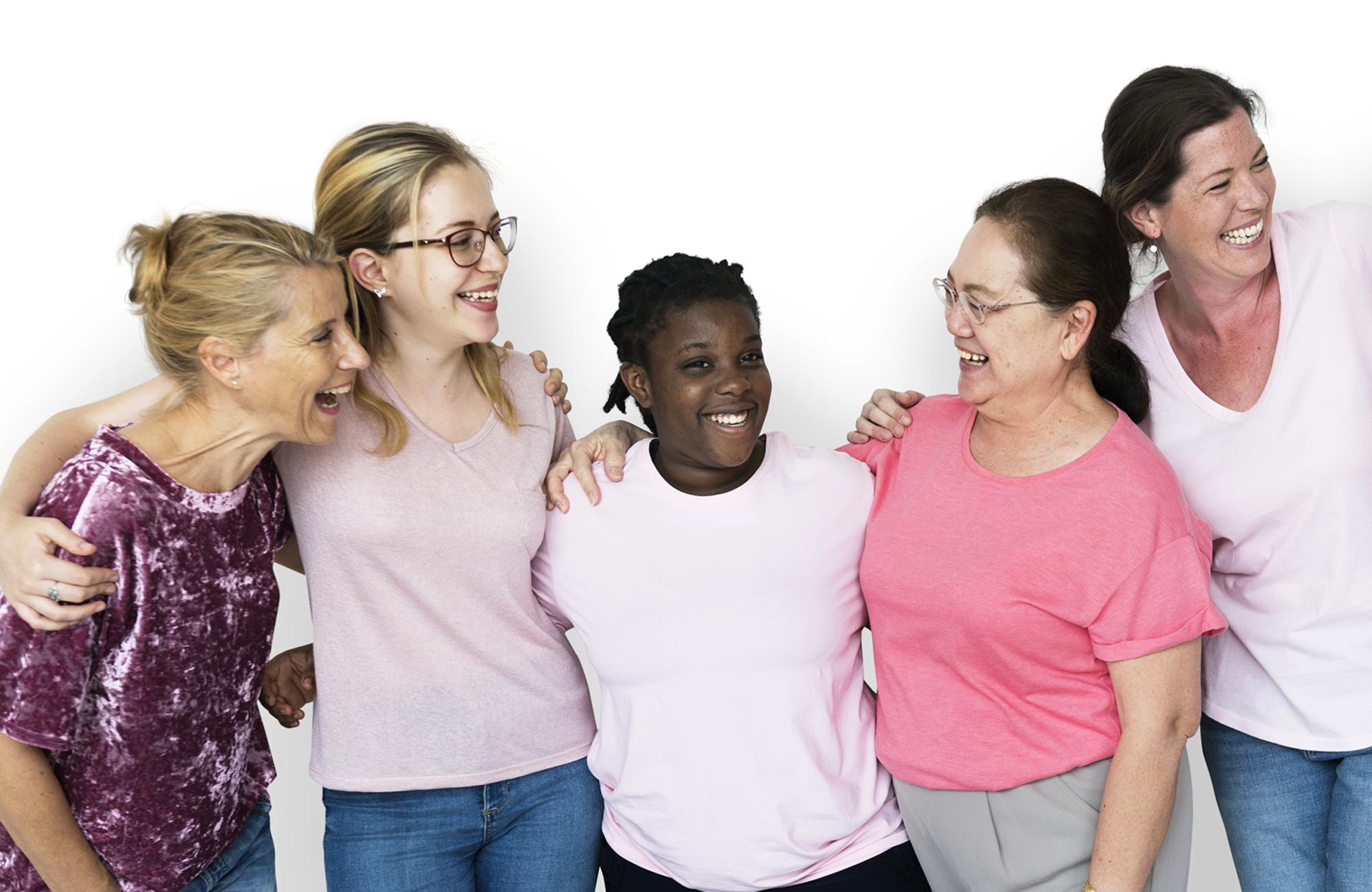 Mulheres juntas sorrindo