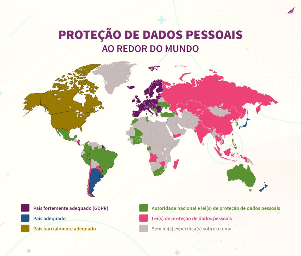 proteção de dados pessoais ao redor do mundo
